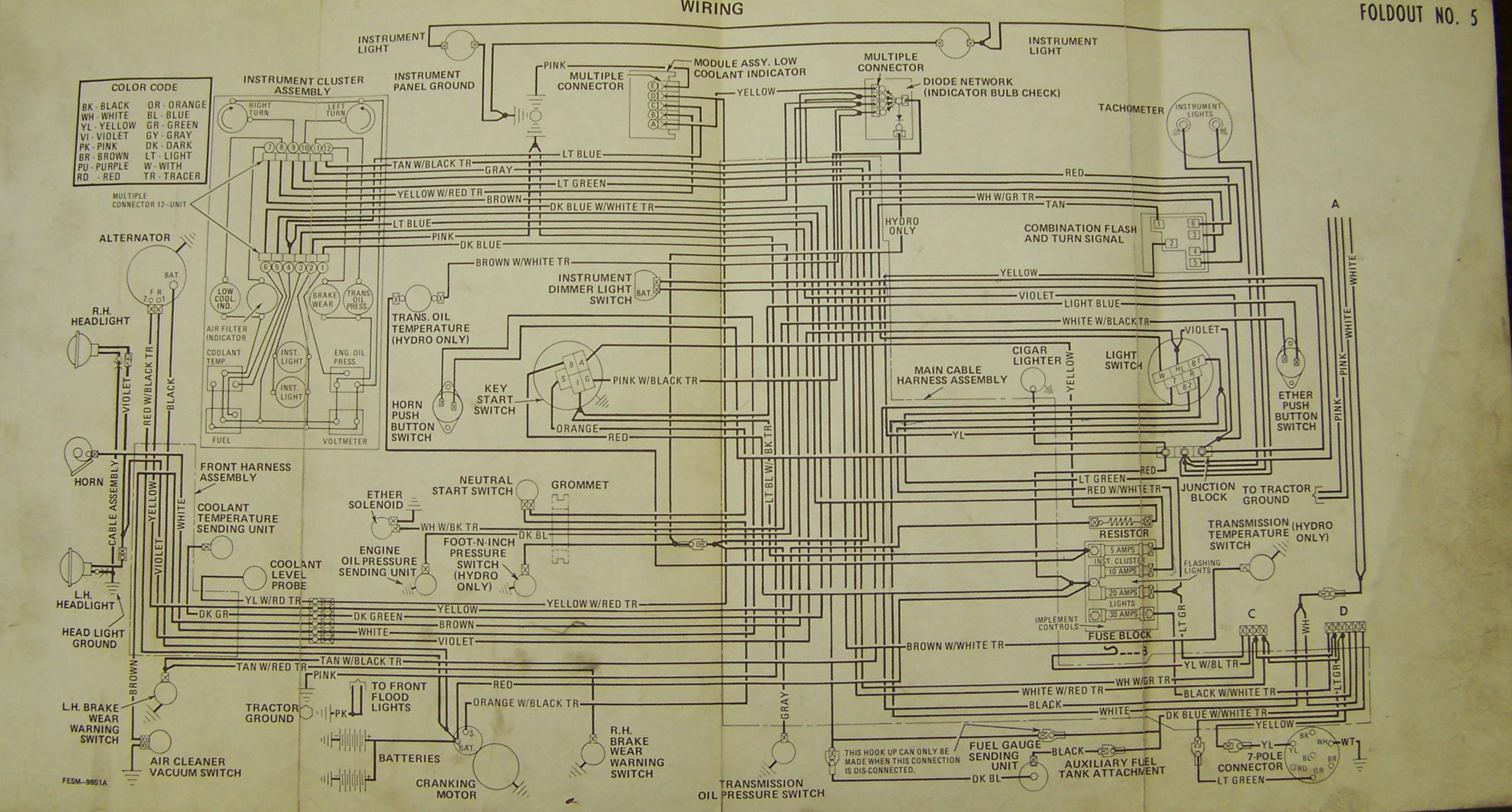 Carter Gruenewald Co Inc Ih Farmall Tractor Electrical Wiring Diagram Black White Green 86 Series