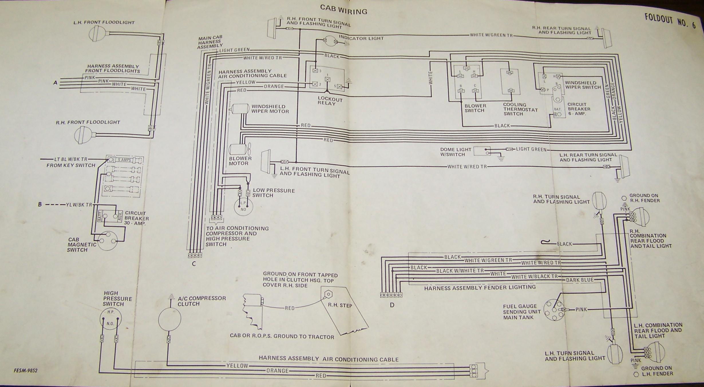 carter gruenewald co inc ih farmall tractor electrical wiring rh cngco com international 1086 wiring schematic ih 1086 radio wiring diagram