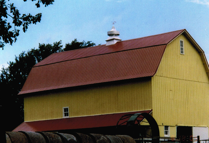 Completed Barn Roof (metal) And Lean To.