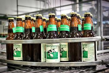 Spotted Cow being bottled at Hilltop.