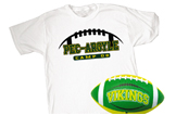 Tee/Custom Football Combo Pack